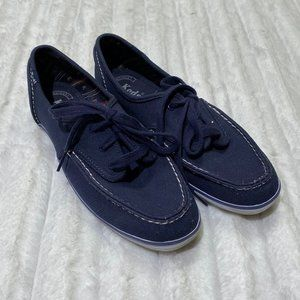 Keds Canvas Navy Boat Shoes